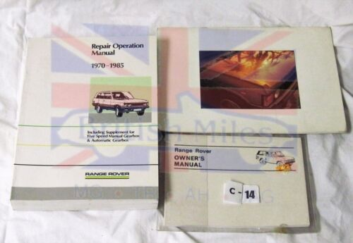 RANGE ROVER 1970 - 1985 OWNERS MANUAL  OPERATIONS AND REPAIR  SALES BROCHURE