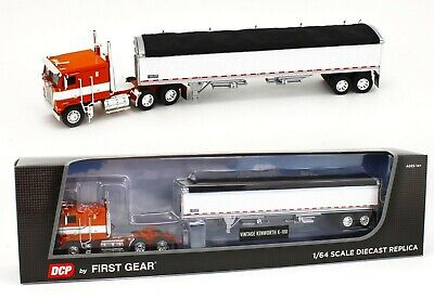 2020 DCP 1:64 *ORANGE & WHITE* KENWORTH K-100 COE w/WILSON GRAIN TRAILER *NIB*