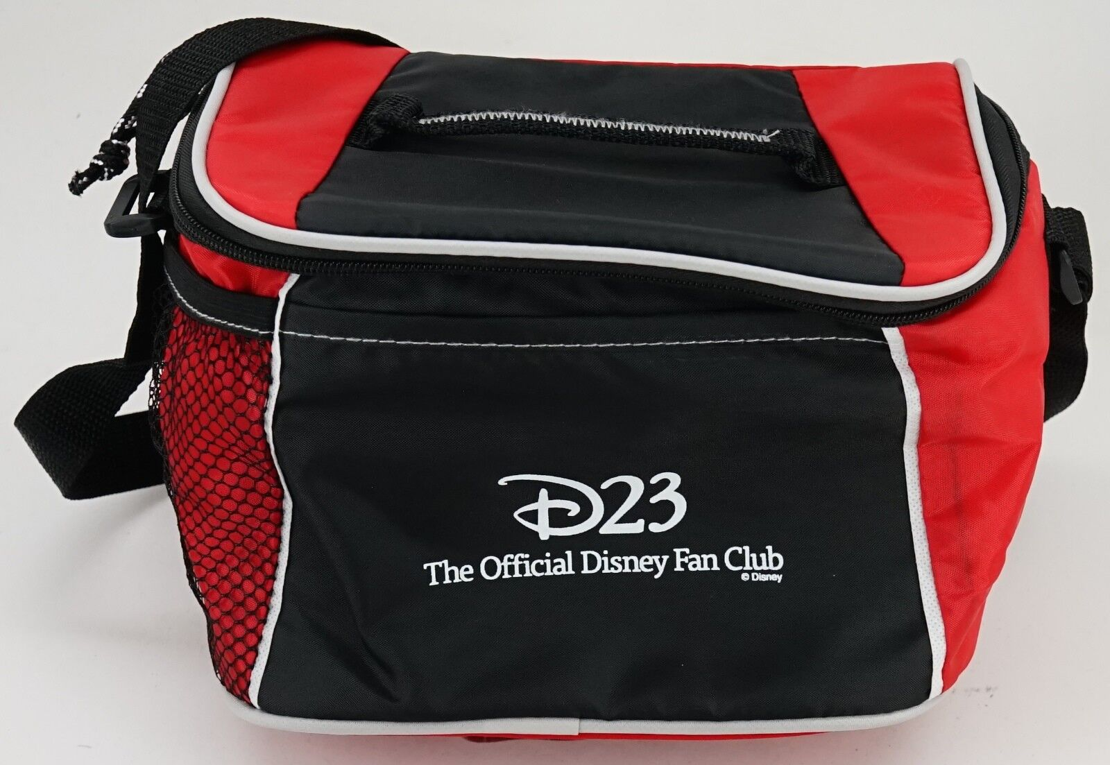 New Disney D23 Red And Black Zippered Insulated Cooler Lunch