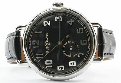 Bell & Ross WW1-97 Reserve De Marche BRWW197-BL-ST/SCR Wrist Watch for Men