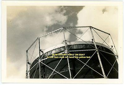 1938 Photo Huge Outdoor Natural Gas Storage Tank Detroit Michigan MI Unknown