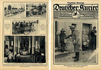 Österreichischer Soldat teilt seine Ration mit der hungrigen Dorfjugend c.1915 gebraucht kaufen  Niederkassel