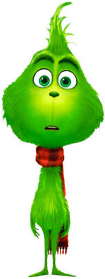 The GRINCH Baby 2018 Xmas Animated Movie Full Body Pose WindoCling Decal StickOn