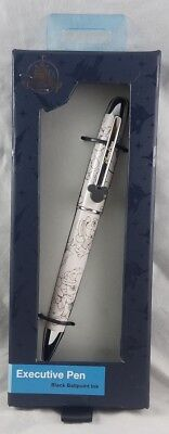 Disney Parks Mickey Mouse Sketch White Executive Pen Black Ballpoint Ink - NEW