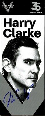 BILLY CRUDUP In-person Signed Program - HARRY CLARKE