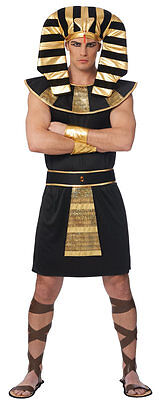 ADULT EGYPTIAN PHARAOH KING TUT RAMSES SPHINX MENS CLASSIC COSTUME BLACK GOLD - King Ramses Costume