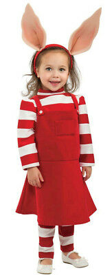 Girl's Deluxe Olivia Cartoon Pig Child Costume Size Small 4-6 - Cartoon Dress Up Costumes