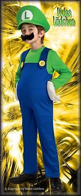Mario Kinder Original Lizenz Kostüm Luigi Deluxe gr M  Hellau Ahoi