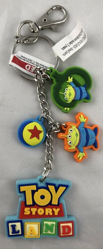 Disney Parks Toy Story Land Keychain Green Alien Luxo Ball Pixar PVC - NEW
