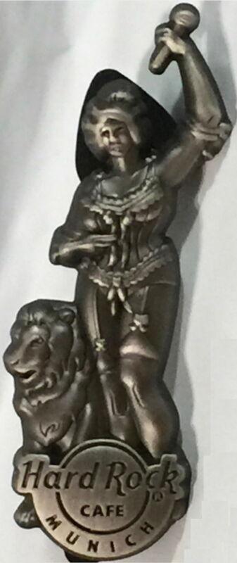 Hard Rock Cafe MUNICH 2015 3-D Statue of Bavaria w/ Lion PIN LE 350 - HRC #86800