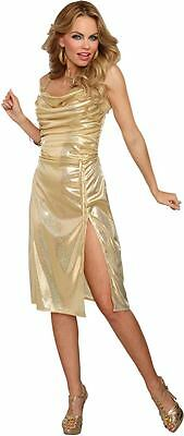 New Disco Inferno Gold  Woman's Costume by Dreamgirl 10232 - Disco Inferno Costumes