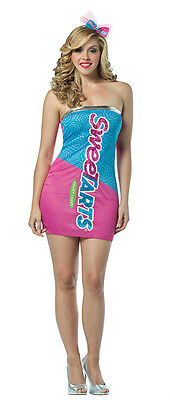 Women's Nestle Sweetarts Sweet Candy Sexy Adult Tube Dress Costume Size 4-10](Candy Costume For Women)