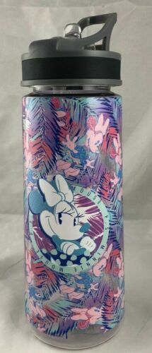 Disney Parks Minnie Mouse PS Floral Tropical Water Bottle Tumbler Cup ~ NEW
