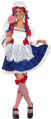 Rag Doll Deluxe Small Adult New Cute Sexy Halloween Cosplay Fits Dress Size 6-9