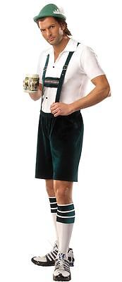 LEDERHOSEN MENS ADULT BAVARIAN BEER GUY HALLOWEEN COSTUME GERMAN OKTOBERFEST S/M