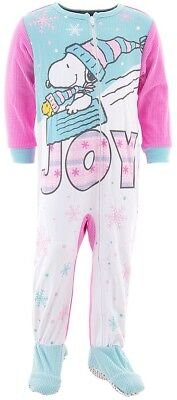 Snoopy Joy Footed Pajamas for Toddler Girls Blanket - Blanket Sleepers For Toddlers