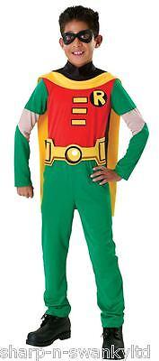 Jungen Robin aus Batman Overall Superheld Büchertag Kostüm Verkleiden Outfit