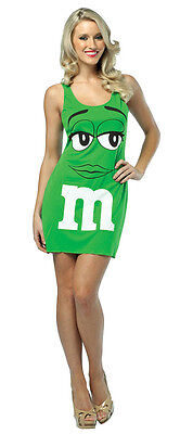 M&M Tank Dress Candy Food Fancy Dress Up Halloween Party Adult Costume 2 COLORS - M&m Dress Up