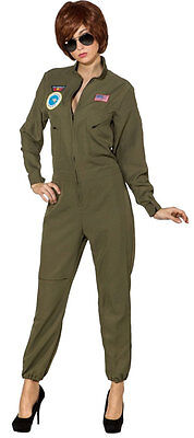 Jet-Pilot Overall Damenkostüm  NEU - Damen Karneval Fasching Verkleidung - Piloten Overall Kostüm