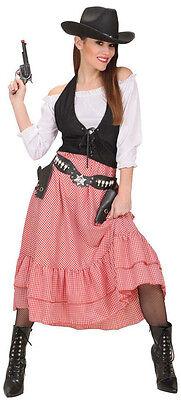 Cow Girl Kostüm Jessie-Jane NEU - Damen Karneval Fasching Verkleidung Kostüm ()