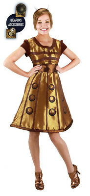 Doctor Who Dalek Dress, Headband and Weapons Costume Size S/M, NEW UNWORN](Dalek Costumes)