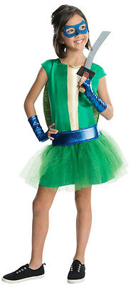 Teenage Mutant Ninja Turtles Girls Costumes (Teenage Mutant Ninja Turtles Deluxe Leonardo Tutu Dress Girls Costume Size)