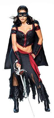 Secret Wishes Sexy Lady Zorro Women's Adult Costume Size Small 2-6 (Women Zorro Costume)