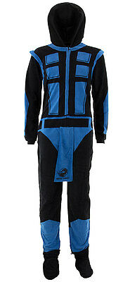 Mortal Kombat Sub-Zero Adult Size Union Suit Costume Polyester Pajamas NEW