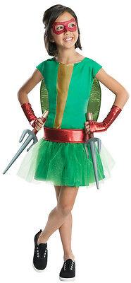 Teenage Mutant Ninja Turtles Girls Costumes (Teenage Mutant Ninja Turtles Deluxe Raphael Tutu Dress Girls Costume Size)