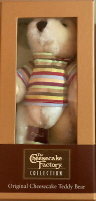 The Cheesecake Factory Collection 2005 Original Teddy Bear 6 5  Plush In Box New