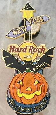 Hard Rock Cafe NEW YORK 2006 HALLOWEEN PARADE PIN Pumpkin Guitar - HRC - York Halloween Parade