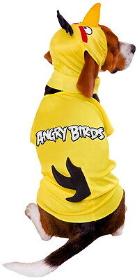 YELLOW ANGRY BIRD DOG HALLOWEEN COSTUME - SIZE MEDIUM
