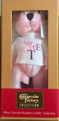 The Cheesecake Factory Collection 2005 Raspberry Truffle Teddy Bear Plush In Box