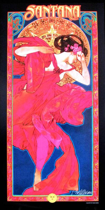 Santana Poster Original Commission Bob Masse Beautiful Art Nouveau Classic w/COA