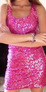 PINK SEQUIN NEW YEARS  PARTY DRESS