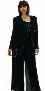 Christie-638-Womens-Evening-Womens-Cocktail-Jacket-Pant-Suit-Outfit-size-8-26