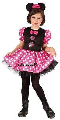 Maus Kostüm Kinderkostüm Mauskostüm Mouse Gr: 92-104-116-128-140 Karneval NEU