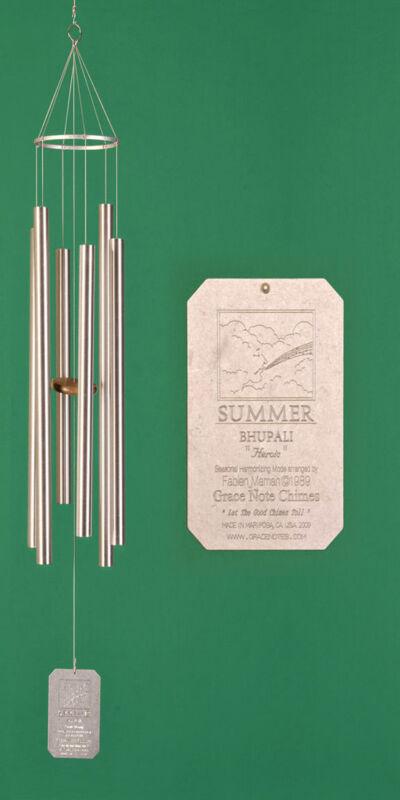 Grace Note Seasonal Harmonizing Chimes® Summer 50 inch Silver Aluminum MSUM
