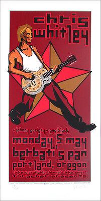 Chris Whitley Poster Gus Black Berbati's Pan Signed Silkscreen Gary Houston