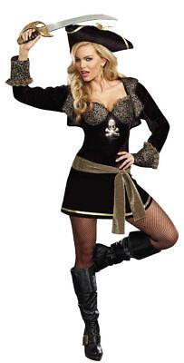 NEW ROCK THE SHIP Sexy Deluxe Women's Dreamgirl Pirate Captain Costume SZ SM - Dream Girl Pirate Costume