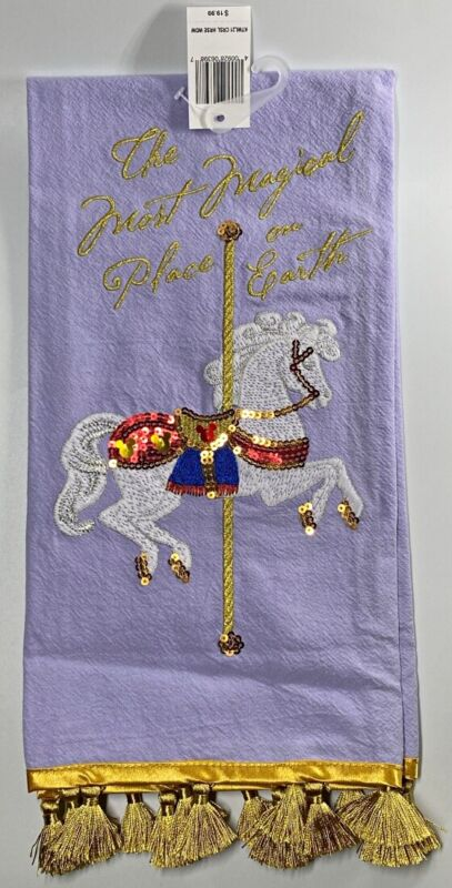 Disney Parks Most Magical Place on Earth Carousel Horse WDW Dish Kitchen Towel