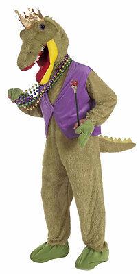 Mardi Gras Alligator King Adult Costume](Alligator Costumes)