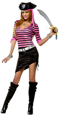 New Pinky Pirate Adult Halloween Cosplay Costume Size Small 4/6 - Pinky Halloween Costume