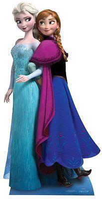 Anna und Elsa Disney Eiskönigin Lifesize Papp Figur Aufsteller Standup ()