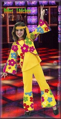 Karneval Fasching Kostüm Hippie für Mädchen gr 164  gr 36