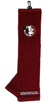 """Florida State Seminoles 16""""x22"""" Embroidered Golf Towel [NEW] NCAA Golfing Cotton"""
