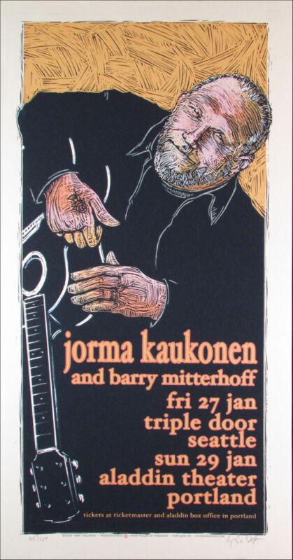 Jorma Kaukonen Original Limited Edition Signed Silkscreen by Gary Houston