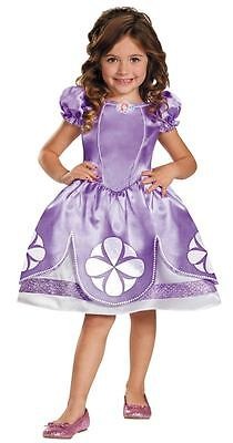 NWT SOPHIA SOFIA THE FIRST TODDLER GIRLS COSTUME 3T 4T 4-6  DISNEY JUNIOR OUTFIT - Sofia The First Toddler Costume