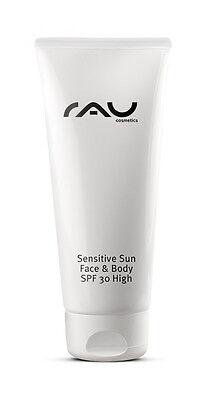 Schutz Spf 30 Face (Sensitive Sun SPF 30 Face & Body 200 ml Sonnenschutzcreme RAU Cosmetics)