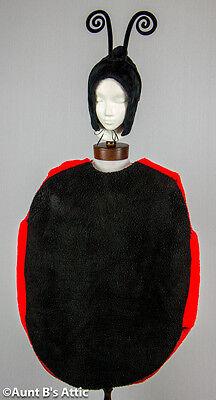 Marienkäfer Kostüm Erwachsene Unisex Kunstpelz/Schaum 3 Stück Neuheit Kostüm (Kunst Stück Kostüm)